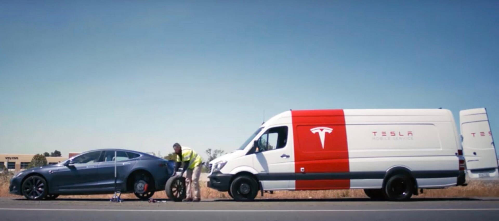 Мобильный сервис Tesla