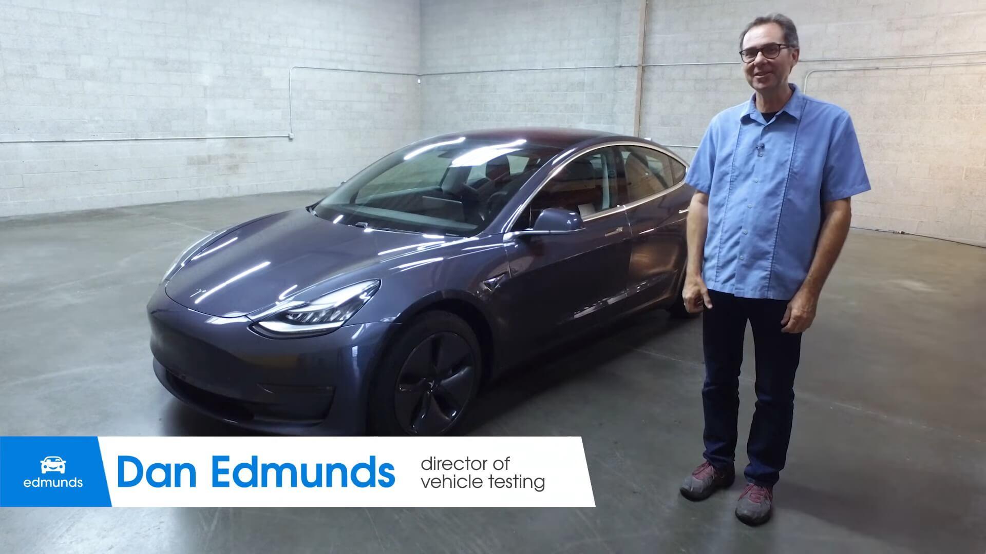 Дэн Эдмундс на обзоре Tesla Model 3