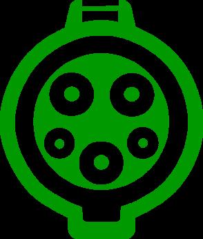 Электромобильный коннектор с разъемом Type 1 J1772 (США/Япония)