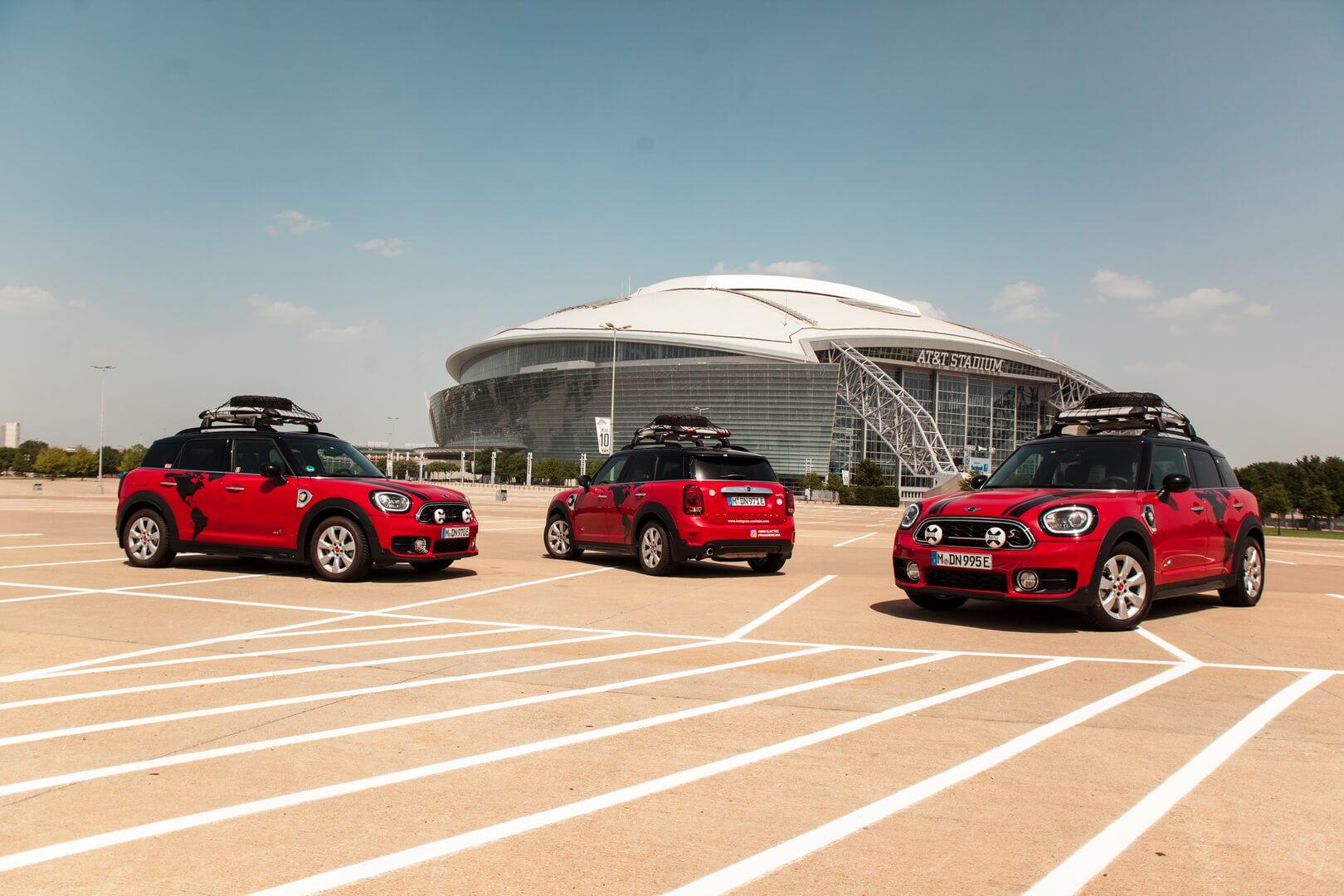 Три плагин-гибридные модели Mini Cooper SECountryman ALL4 отправились втур Panamericana