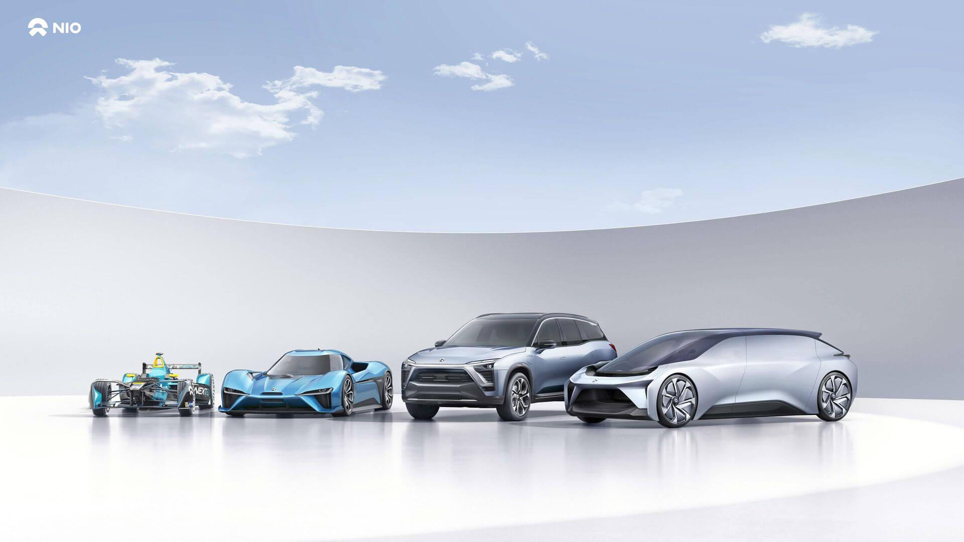 Модельный ряд электромобилей NIO