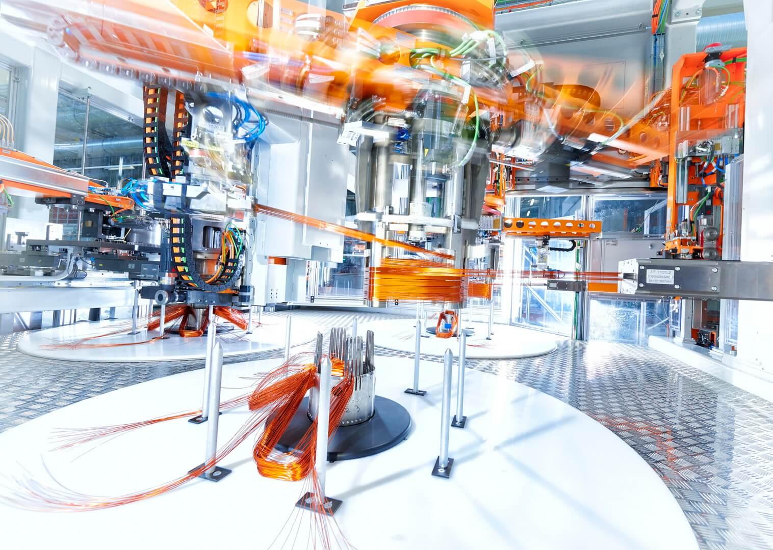 Производственная линия электродвигателей для e-tron quattro на венгерском заводе Győr