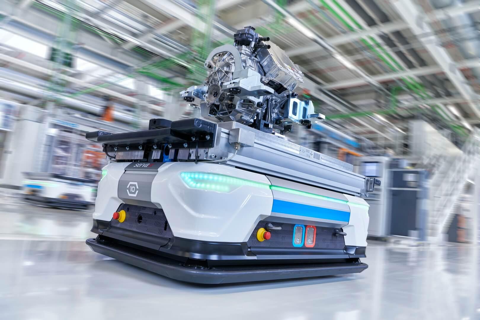 Транспортировка электродвигателя Audi e-tron quattro