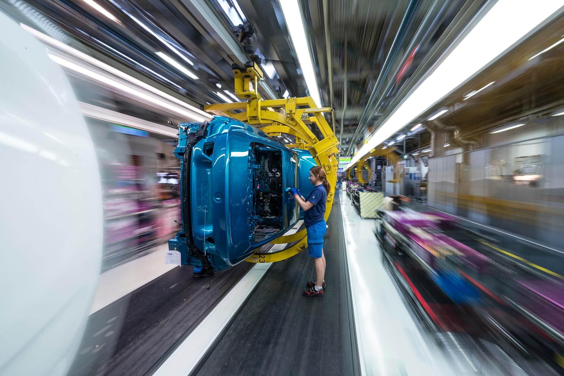 Сборочная линия автомобилей BMW