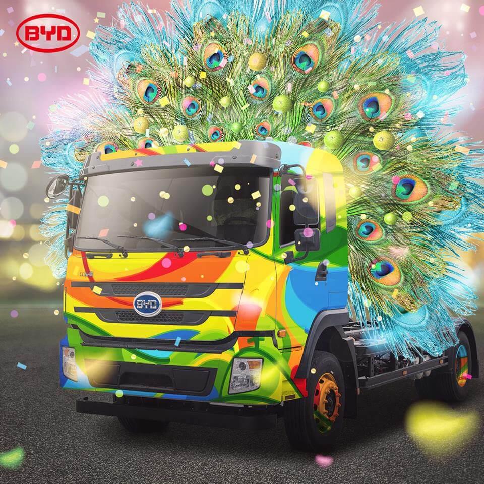 Электрический грузовик BYD