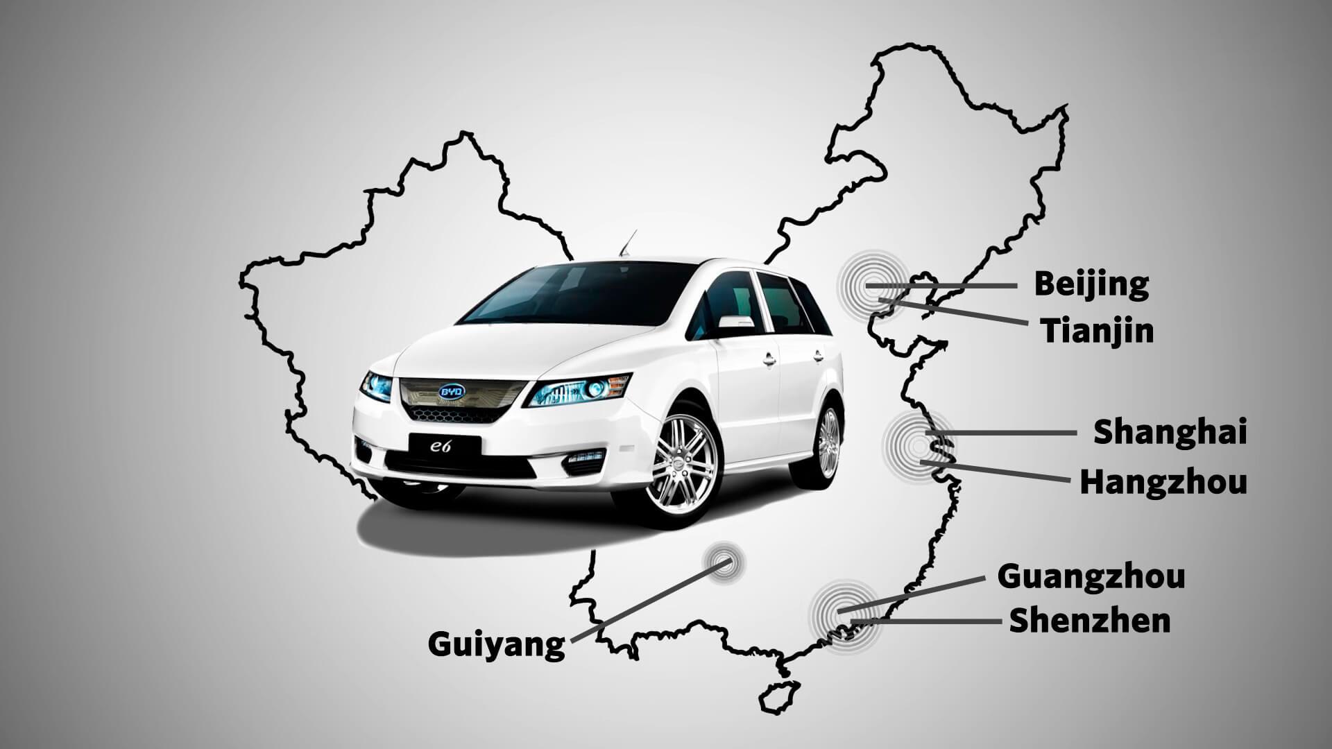 Самая продаваемая марка электромобиля в Китае — BYD