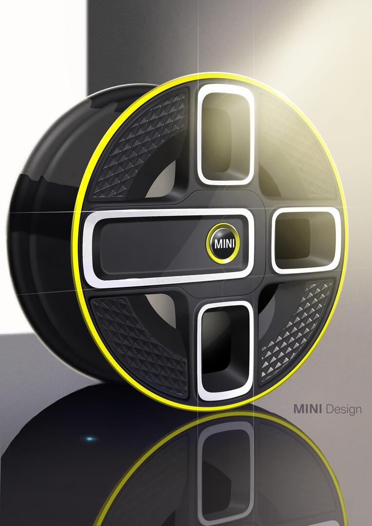 Дизайн колес электрического Mini