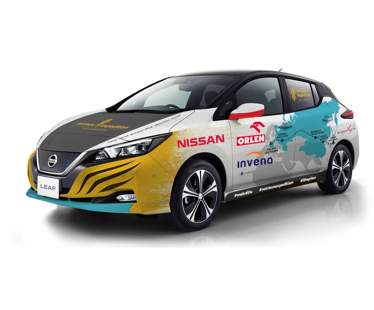 Nissan Leaf второго поколения подготовленный для путешествия