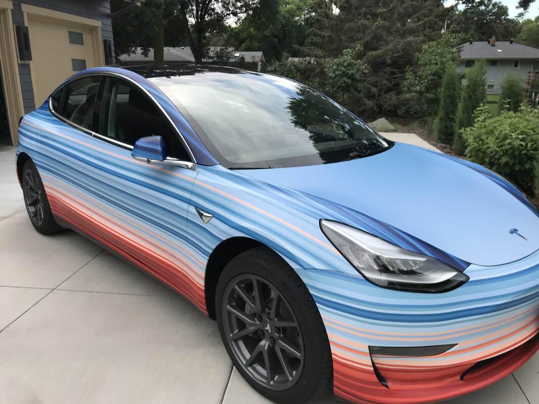 Цвет Tesla Model 3символизирует изменения климата