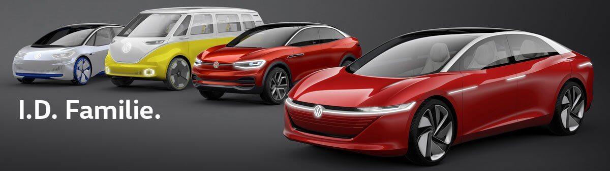 Будущие электрические автомобили Volkswagen серии I.D. на базе платформы MEB