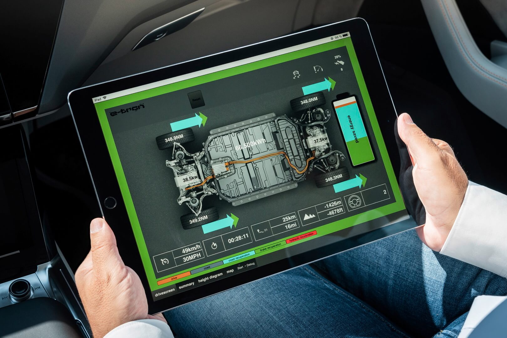 Инновационная системы рекуперации энергии в Audi e-tron quattro