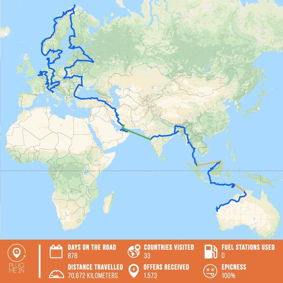 Маршрут путешествия Вибе Ваккера