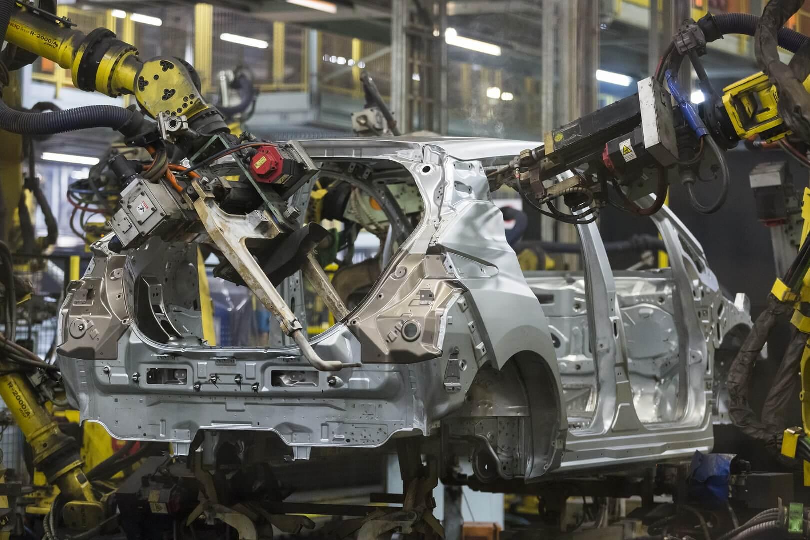 Производство электромобиля Nissan Leaf