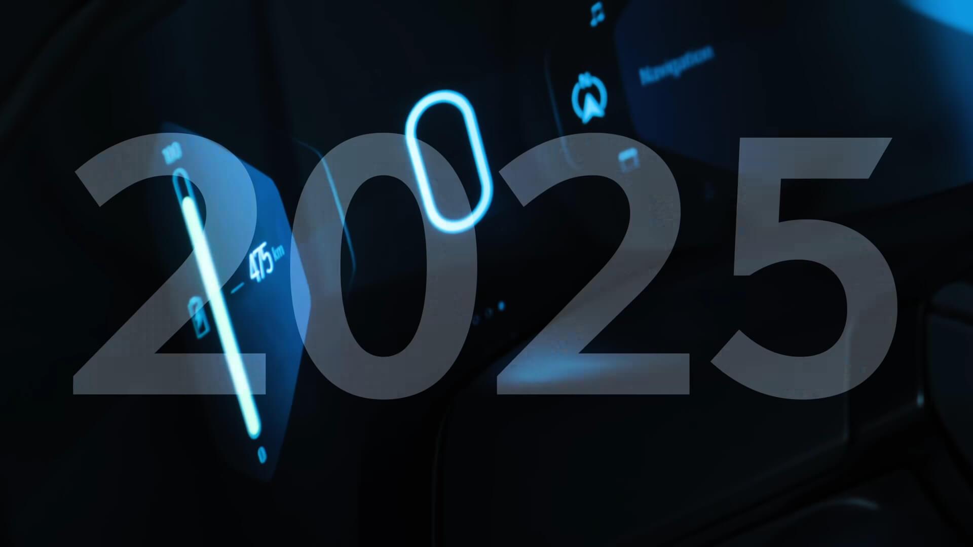 Индикатор батареи показывает запас хода в475км