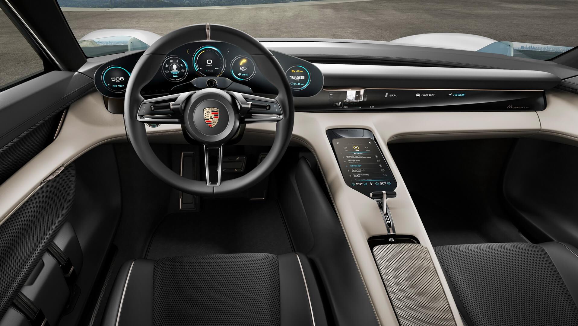 Приборная панель Porsche Taycan (Mission E)