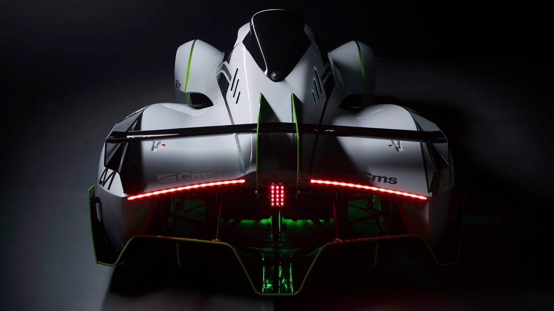 Электроспорткар SX1 - вид сзади