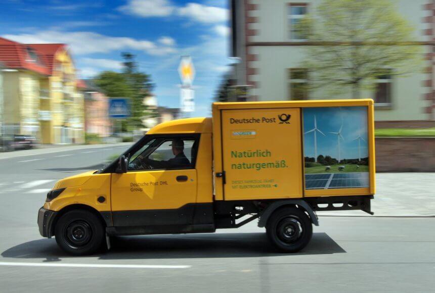 Электрический фургон StreetScooter службы DHL