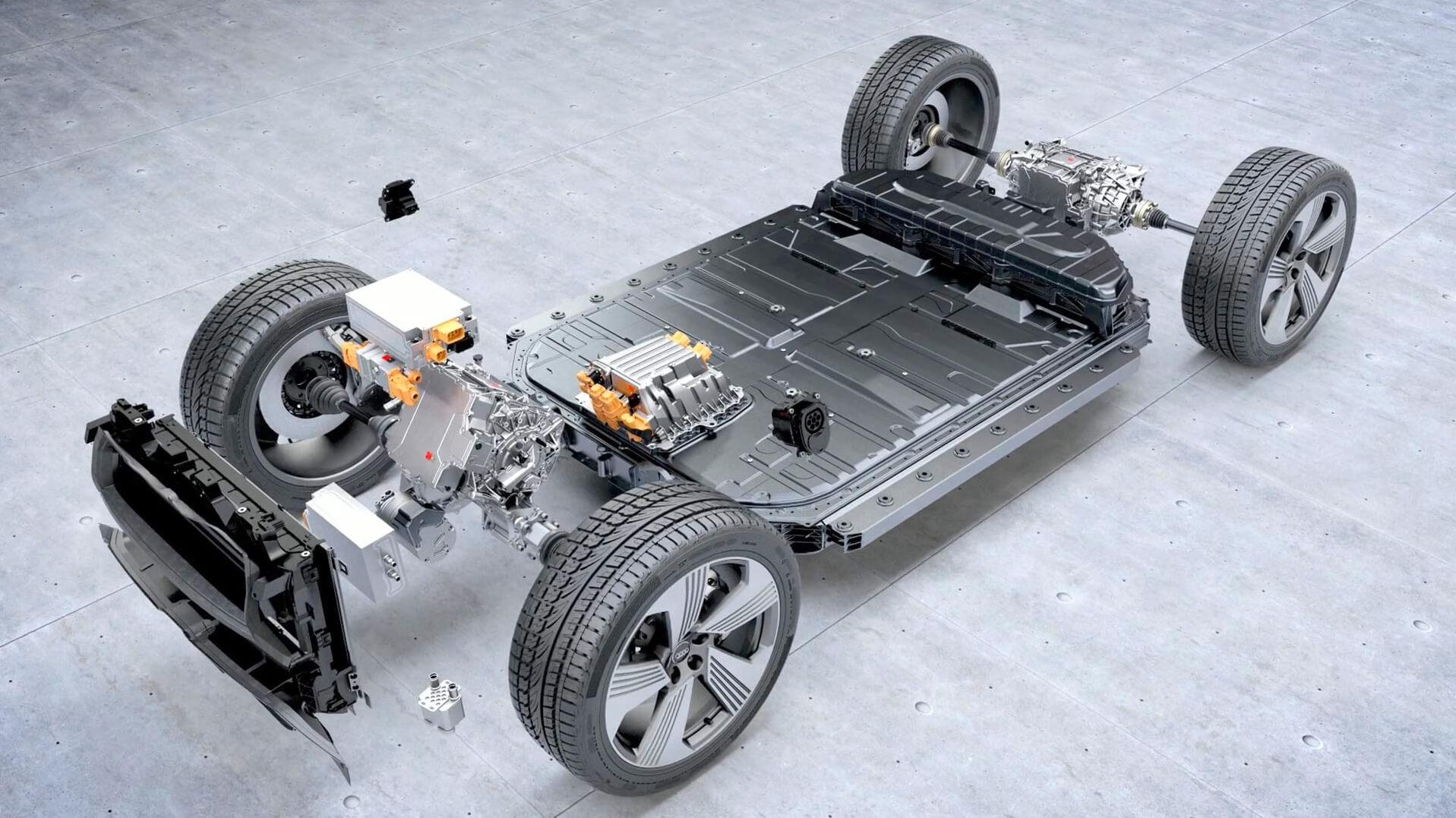 Силовая установка электромобиля Audi e-tron quattro