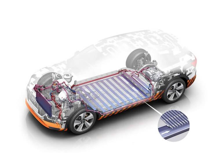 В Audi e-tron quattro используется инновационная система охлаждения