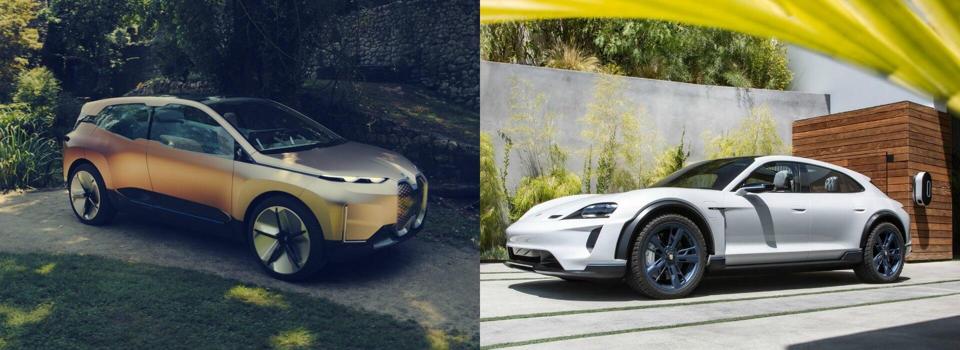 Концепт электрического кроссовера BMW Vision iNEXT и Porsche Mission E Cross Turismo