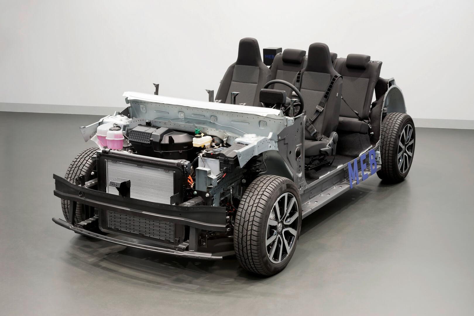 Компоновка электромобиля на платформе MEB