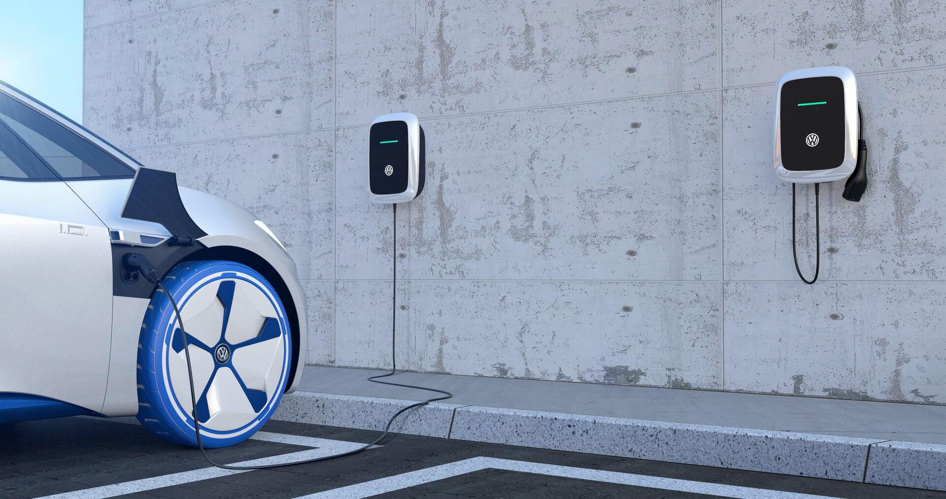 Настенное зарядное устройство Wallbox для электромобилей VW