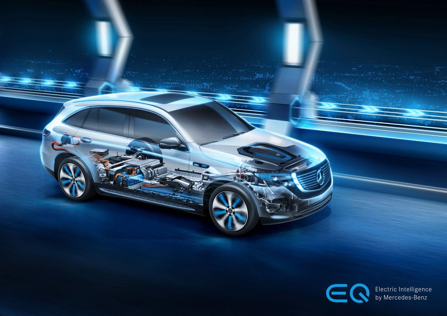 Силовая установка Mercedes-Benz EQC