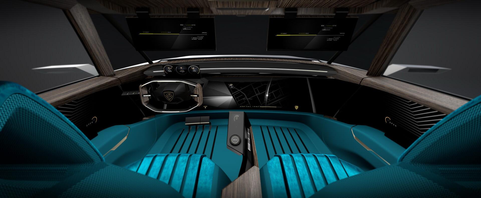 Интерьер электромобиля Peugeot e-Legend