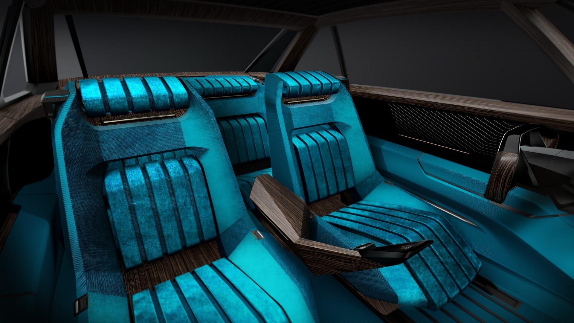 Салон электромобиля Peugeot e-Legend