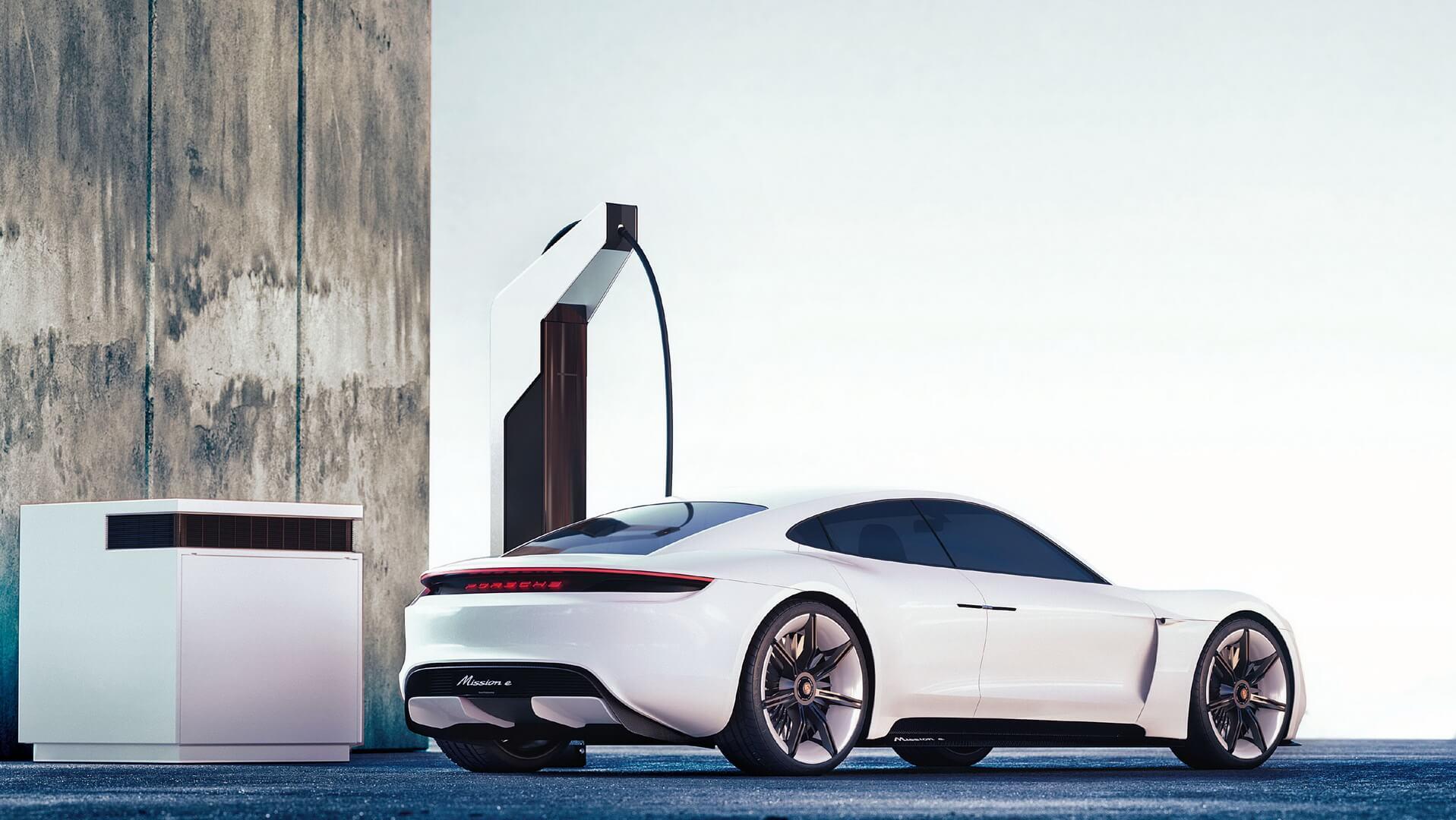 Концепция зарядки Porsche «Электрический пит-стоп»
