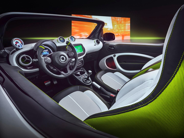 Салон электрического кабриолета Smart Forease