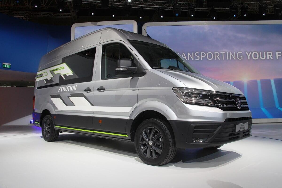 Фургон натопливных элементах Volkswagen Crafter HyMotion