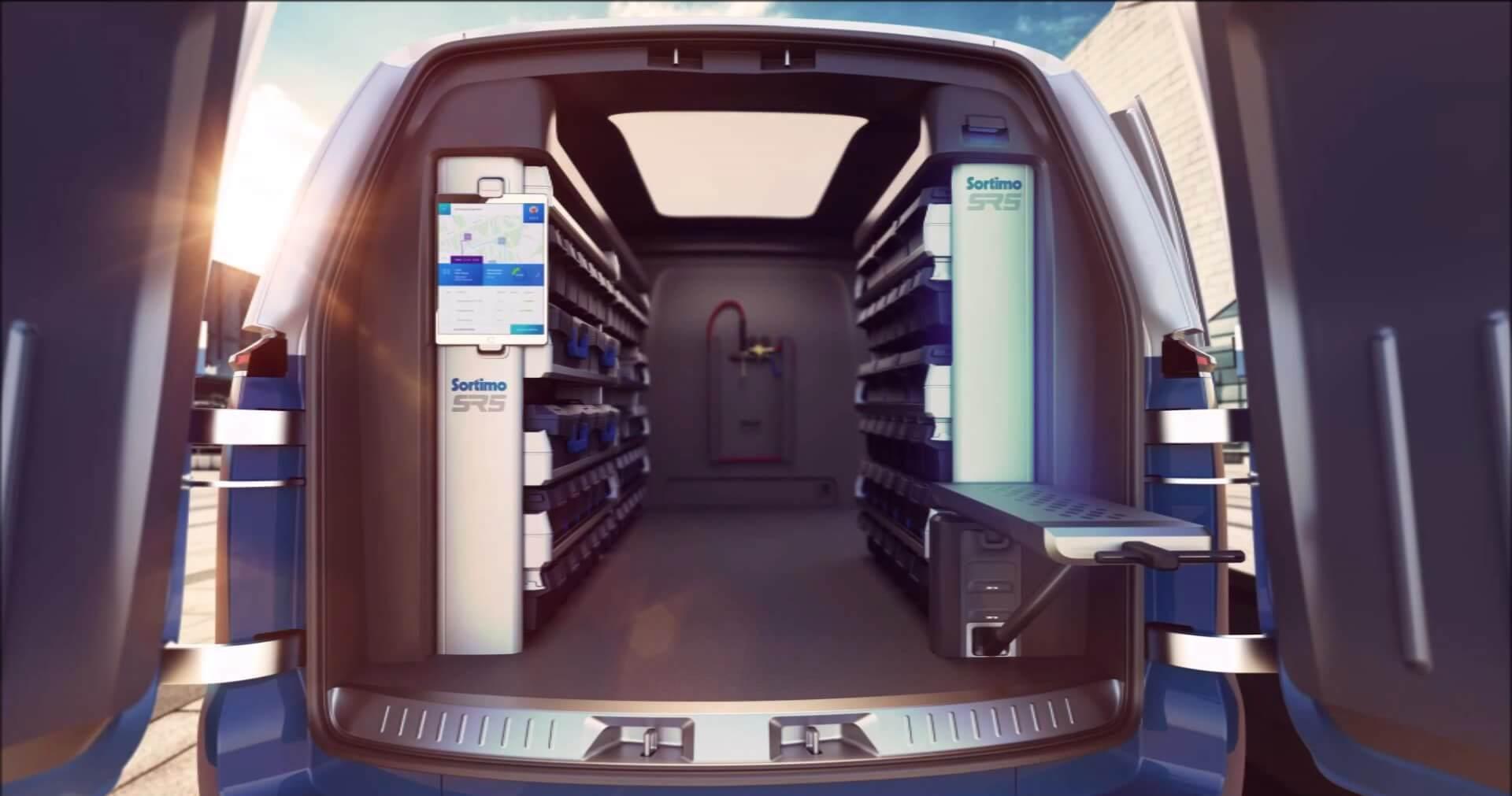 Стеллажная система в Volkswagen I.D. Buzz Cargo