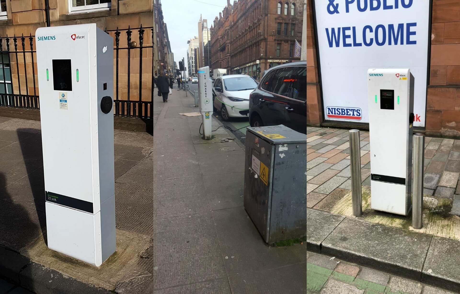 Зарядные станции в Глазго