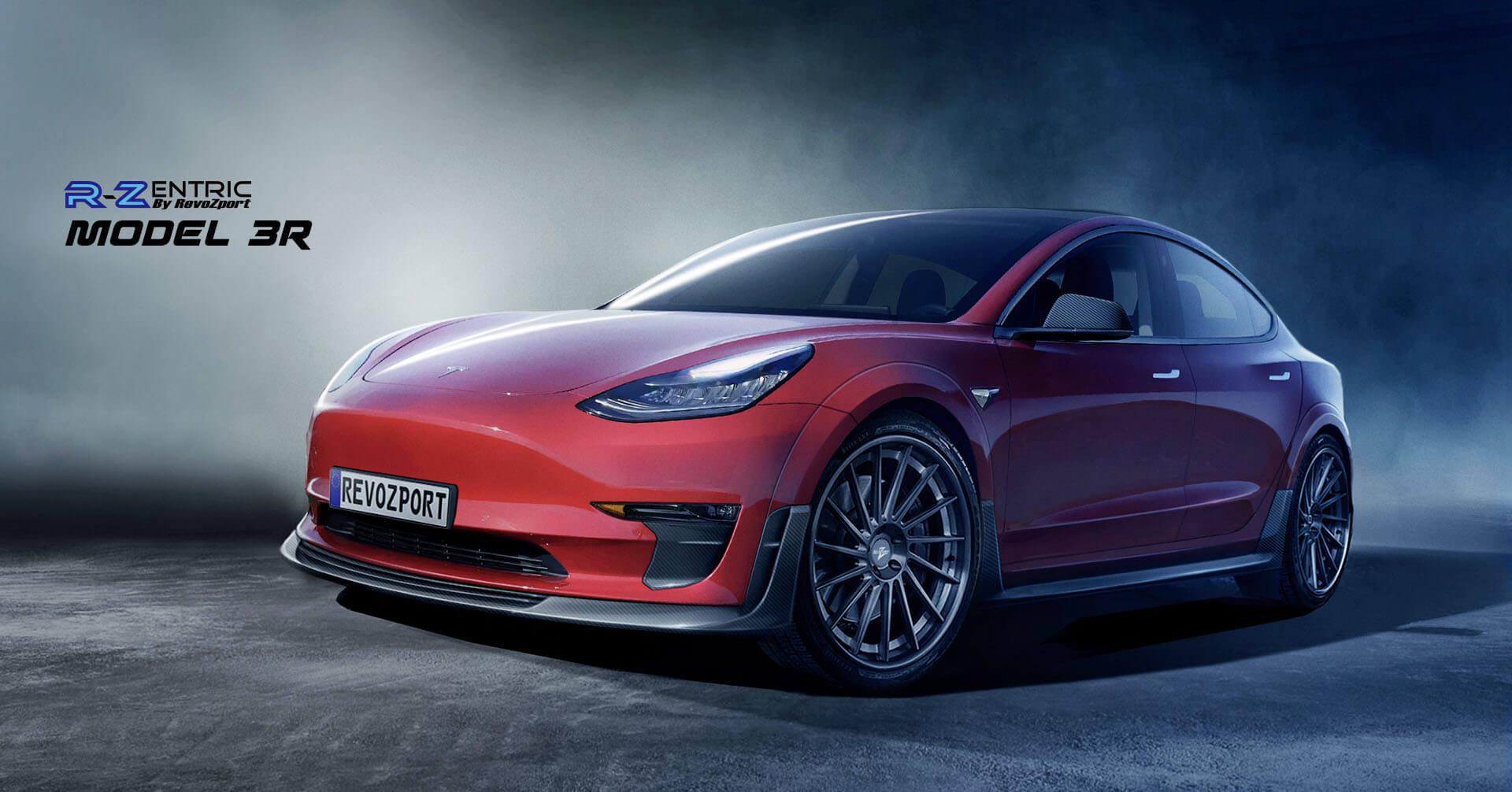 Комплект аэродинамического кузовного тюнинга R-Zentric ModelR3 для Tesla Model 3