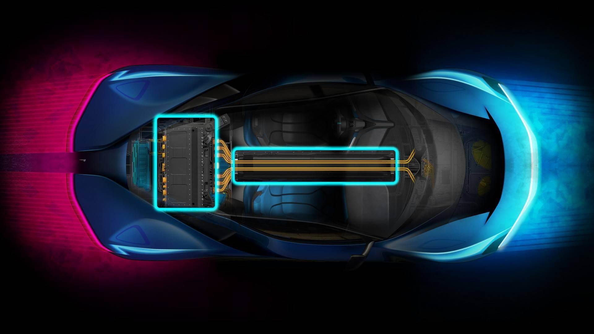 Силовая установка электрического гиперкара Pininfarina PF0