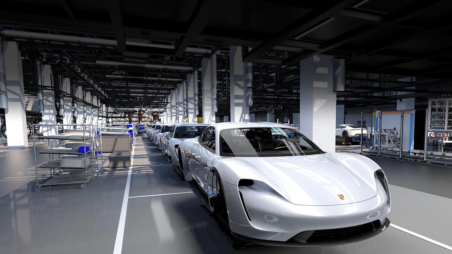 Автоматизированная сборочная линия Porsche Taycan