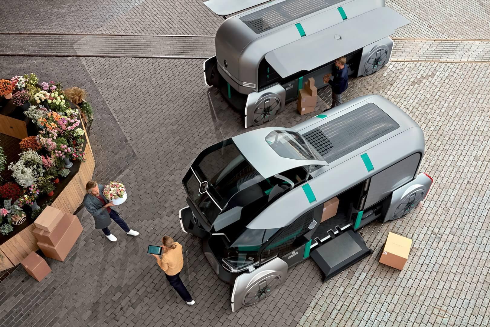 Автономный электромобиль для доставки грузов EZ-PRO