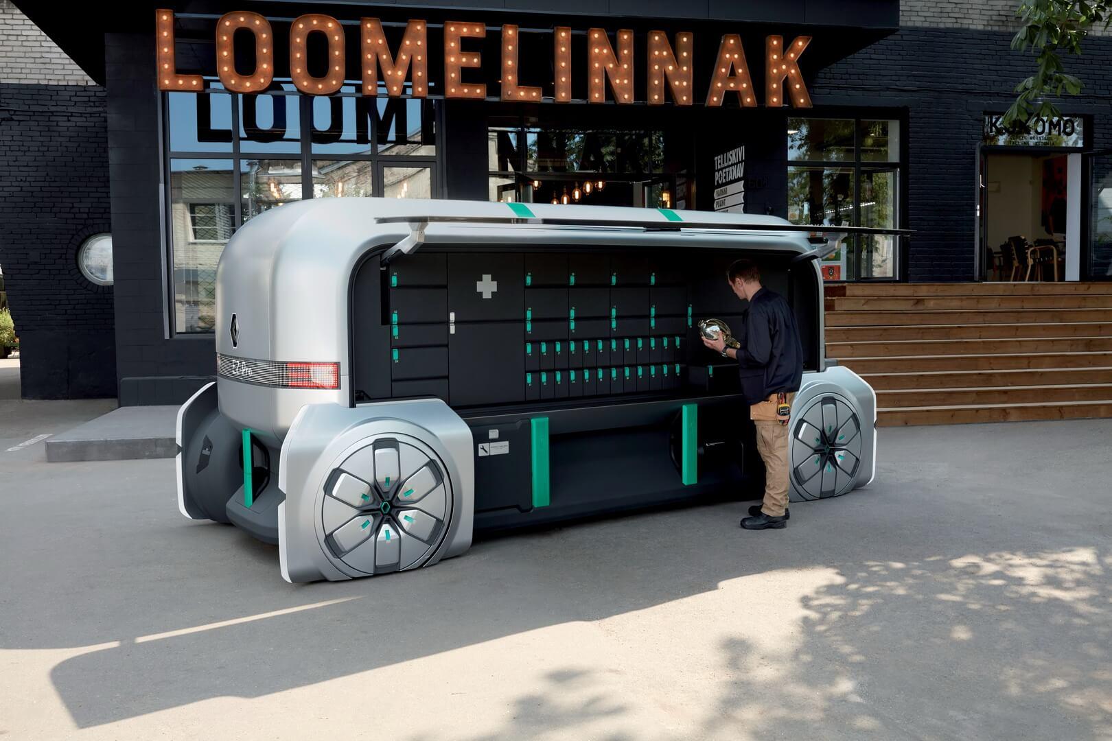 Автономный концепт электрического робомобиля для доставки грузов Renault EZ-PRO