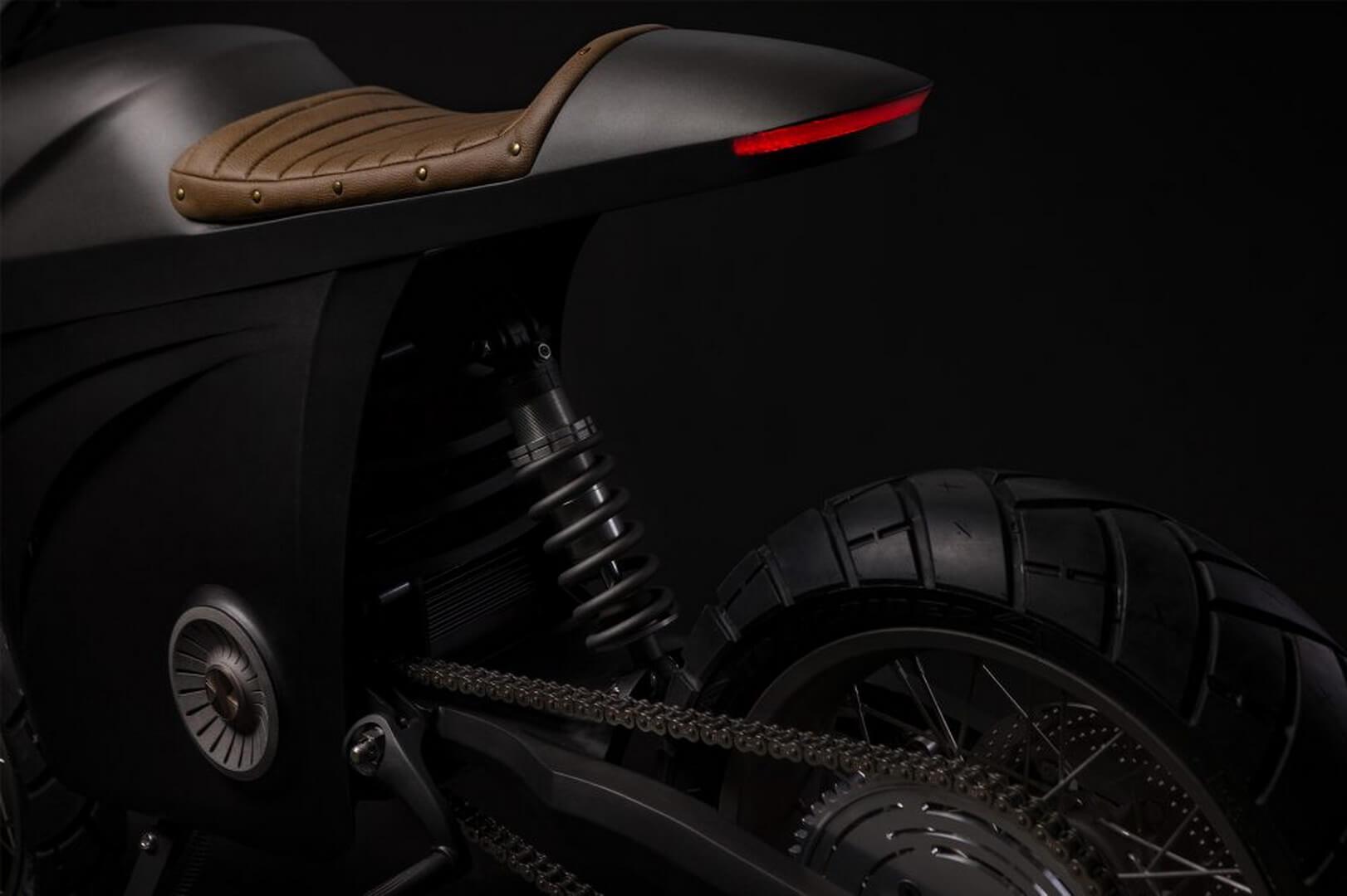 Электрический мотоцикл Tarform - сиденье