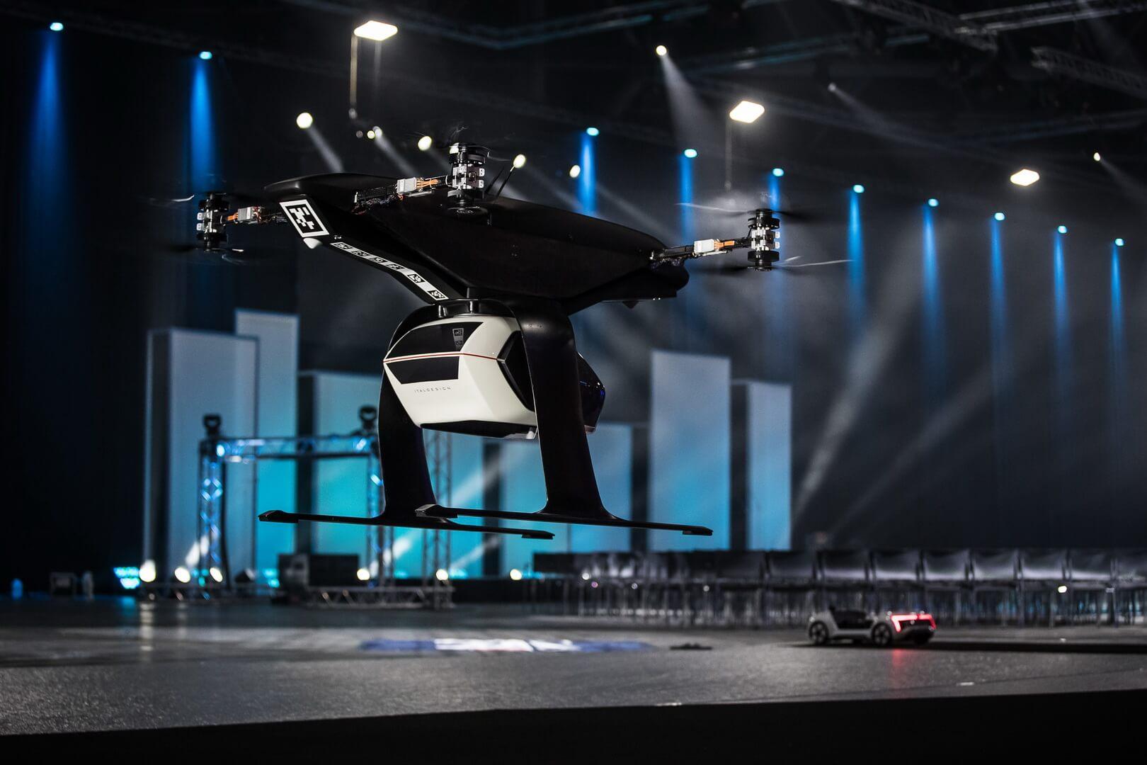 Audi начинает испытание автономного и летающего электротакси