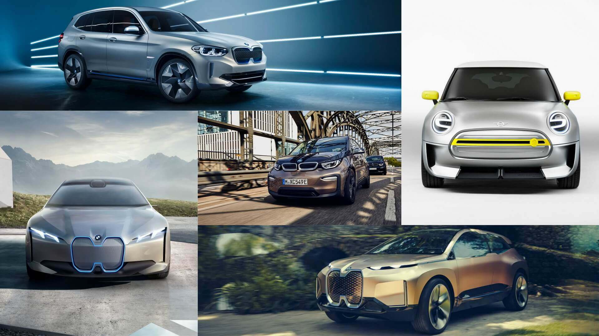 BMW iX3, MINI Electric, BMW i3, BMW i4иBMW iNEXT