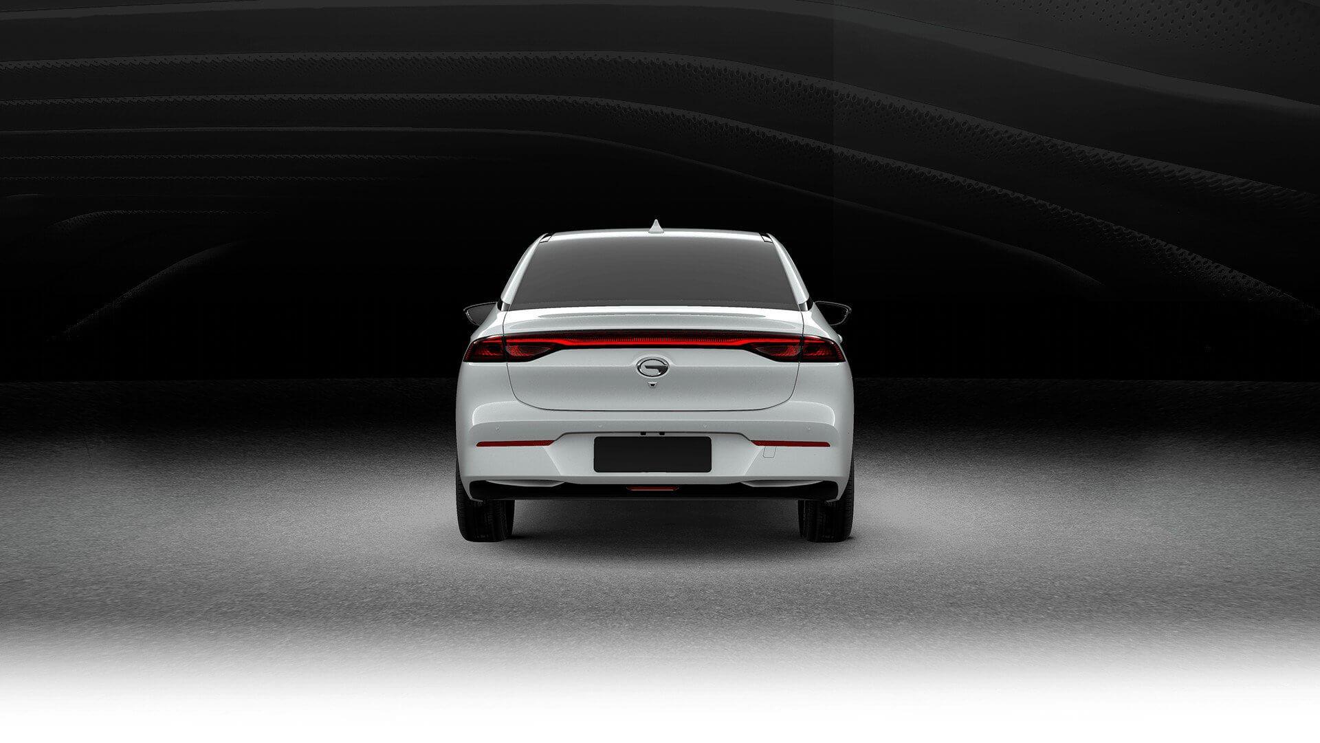 Электрический седан GAC Aion S - вид сзади