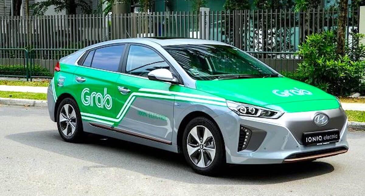 Hyundai Ioniq Electric в каршеринговой компании Grab