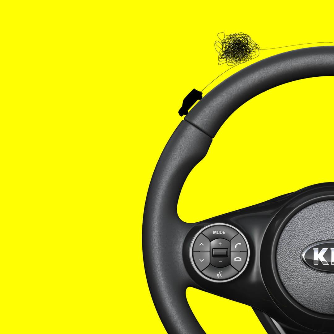Рулевое колесо электромобиля Kia Soul 2019
