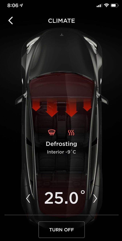Управление климатом в электромобиле Tesla Model 3