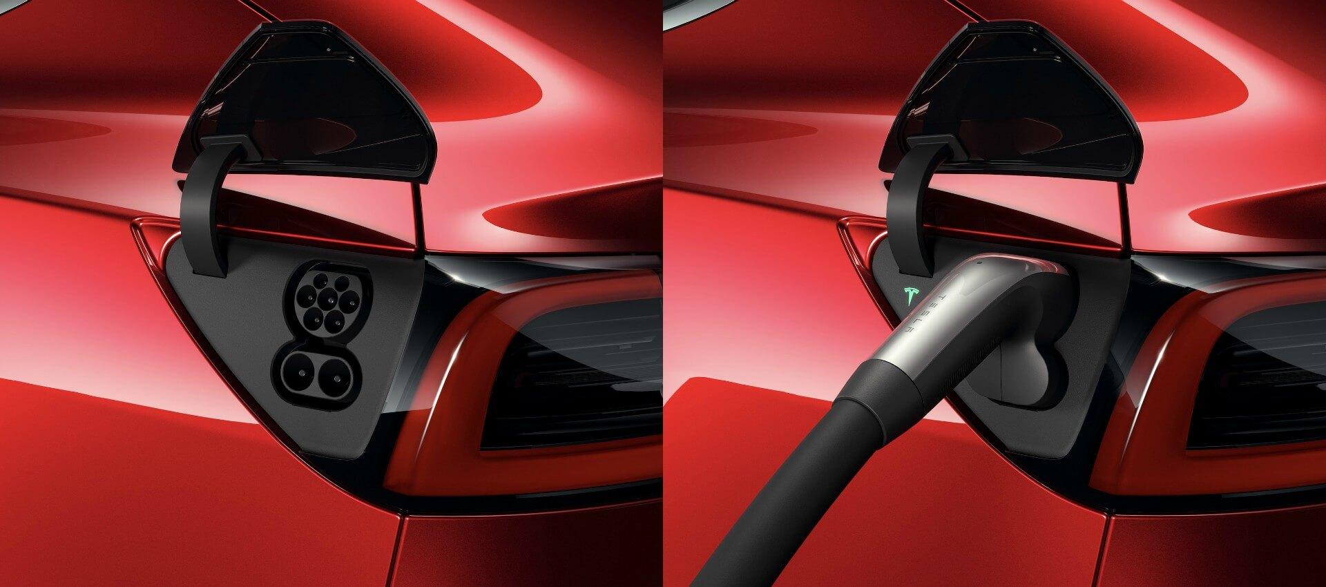 Tesla Model 3 для европейского рынка с разъемом Type 2 CCS Combo