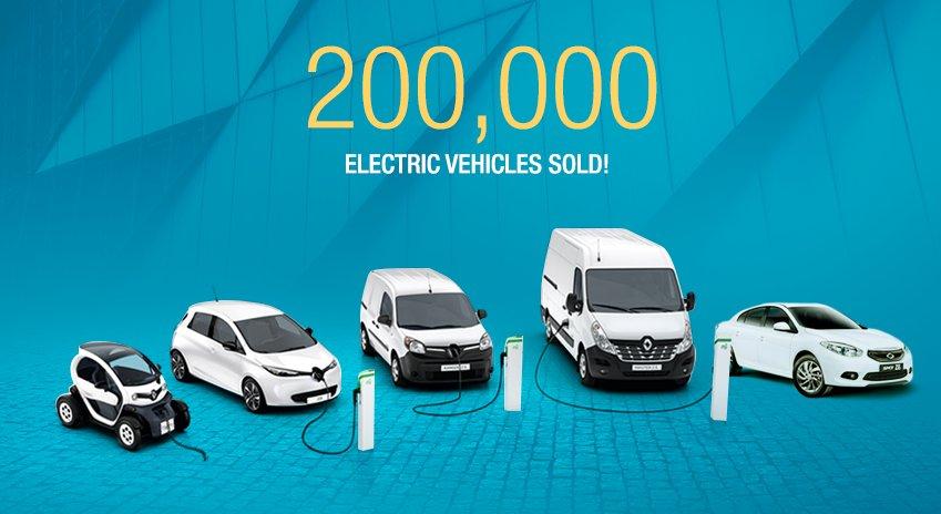 Линейка электромобилей Renault
