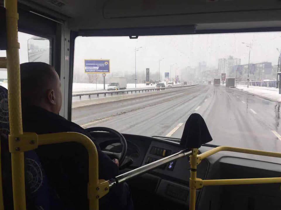 Первый в Киеве электробус выехал на маршрут 599