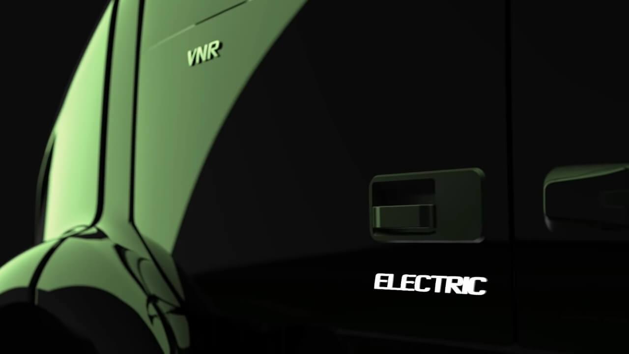 Тизер электрического тягача Volvo VNR Electric